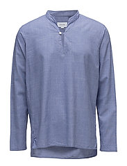Blue Lightweight Twill Popover Shirt - BLUE