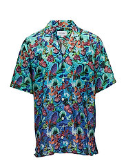 Hawaii Print Resort Shirt - BLUE