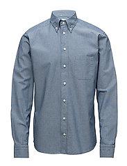Valentine's Print Denim Shirt - BLUE