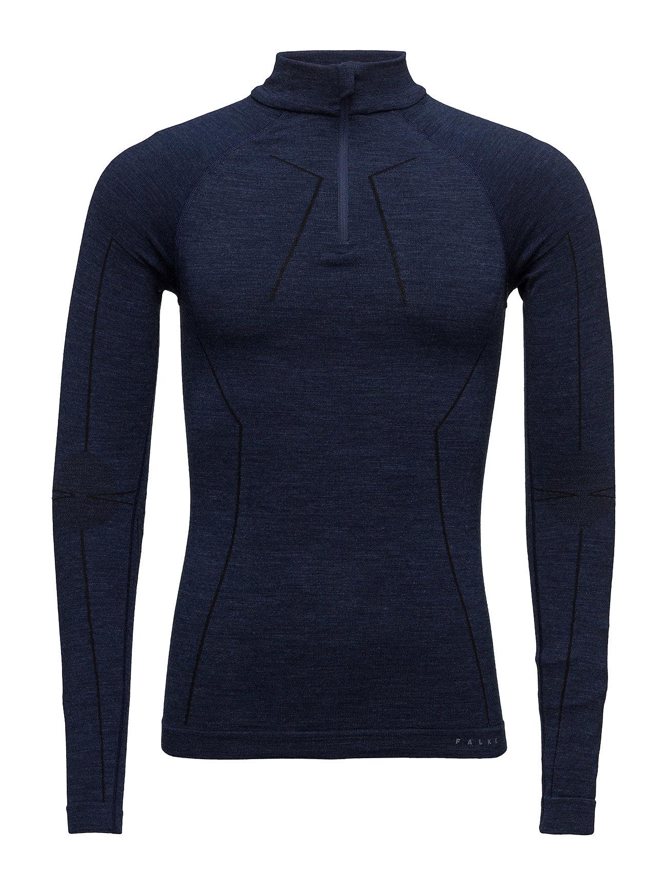 Wt Zip Shirt M Falke Sport Sports toppe til Herrer i Mørk nat