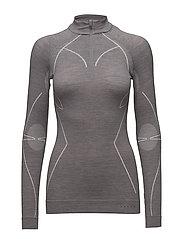 WT Zip Shirt w - GREY-HEATHER