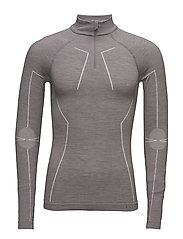 WT Zip Shirt m - GREY-HEATHER