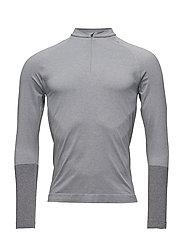 Zip Shirt LS m - LIGHT GREY MEL.