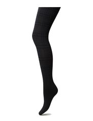 MODERN CHECK TIGHTS - BLACK