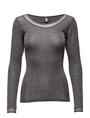 Juliana - T-shirt L/S - GREY MELANGE