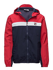 CLIPPER JACKET - PEACOAT-RED-WHITE