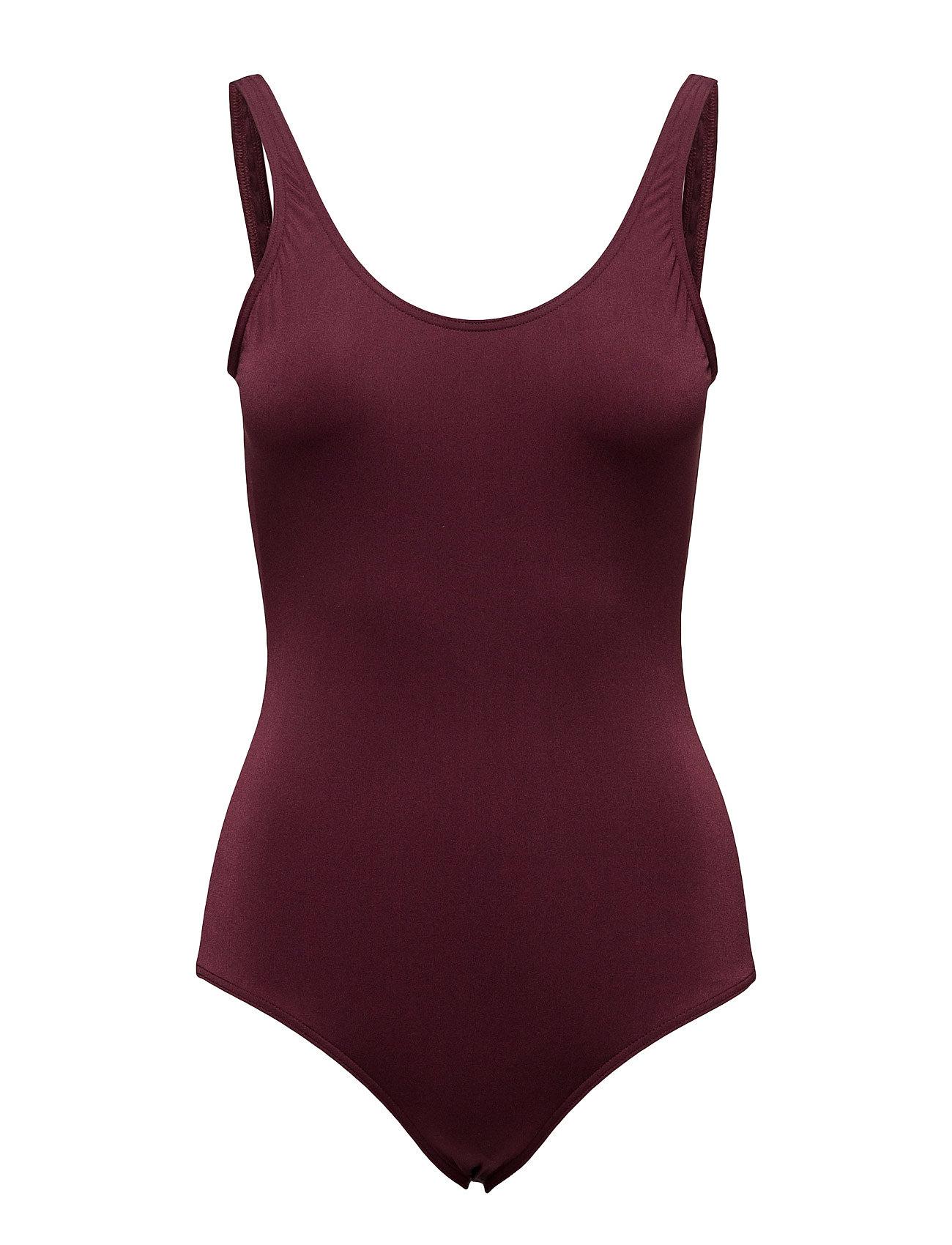 Shiny Swimsuit Filippa K Badetøj til Damer i Mulberry