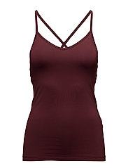 Crossback Yoga Top - MULBERRY