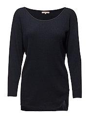 Drapey Rib Sweater - NAVY