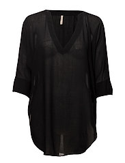 Zoe Tunic Top - BLACK