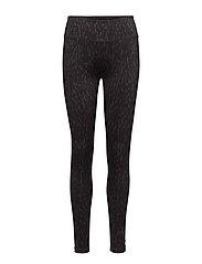 Printed Leggings - LIQUORICE/