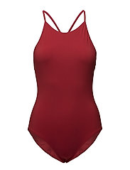 Athletic-cut Swimsuit - ROUGE