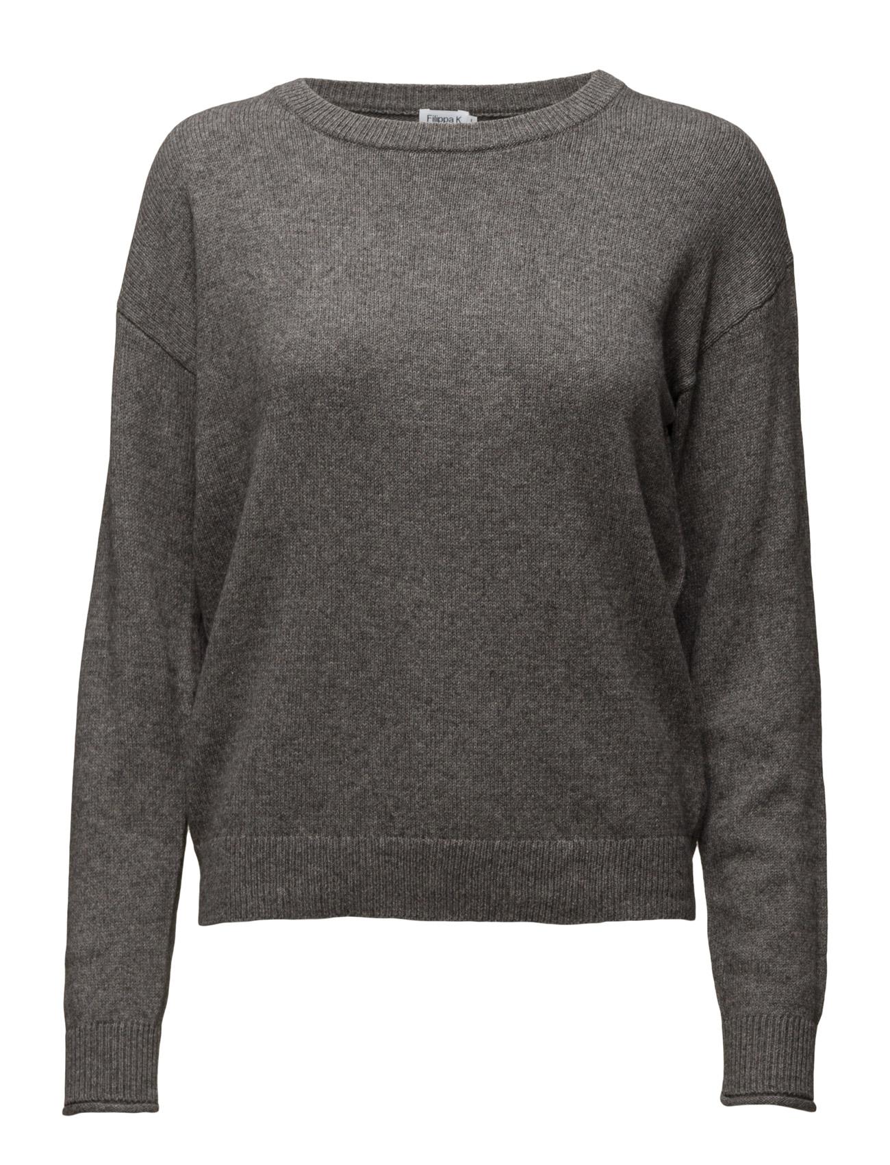 Cotton Yak Pullover Filippa K Sweatshirts til Kvinder i Navy blå