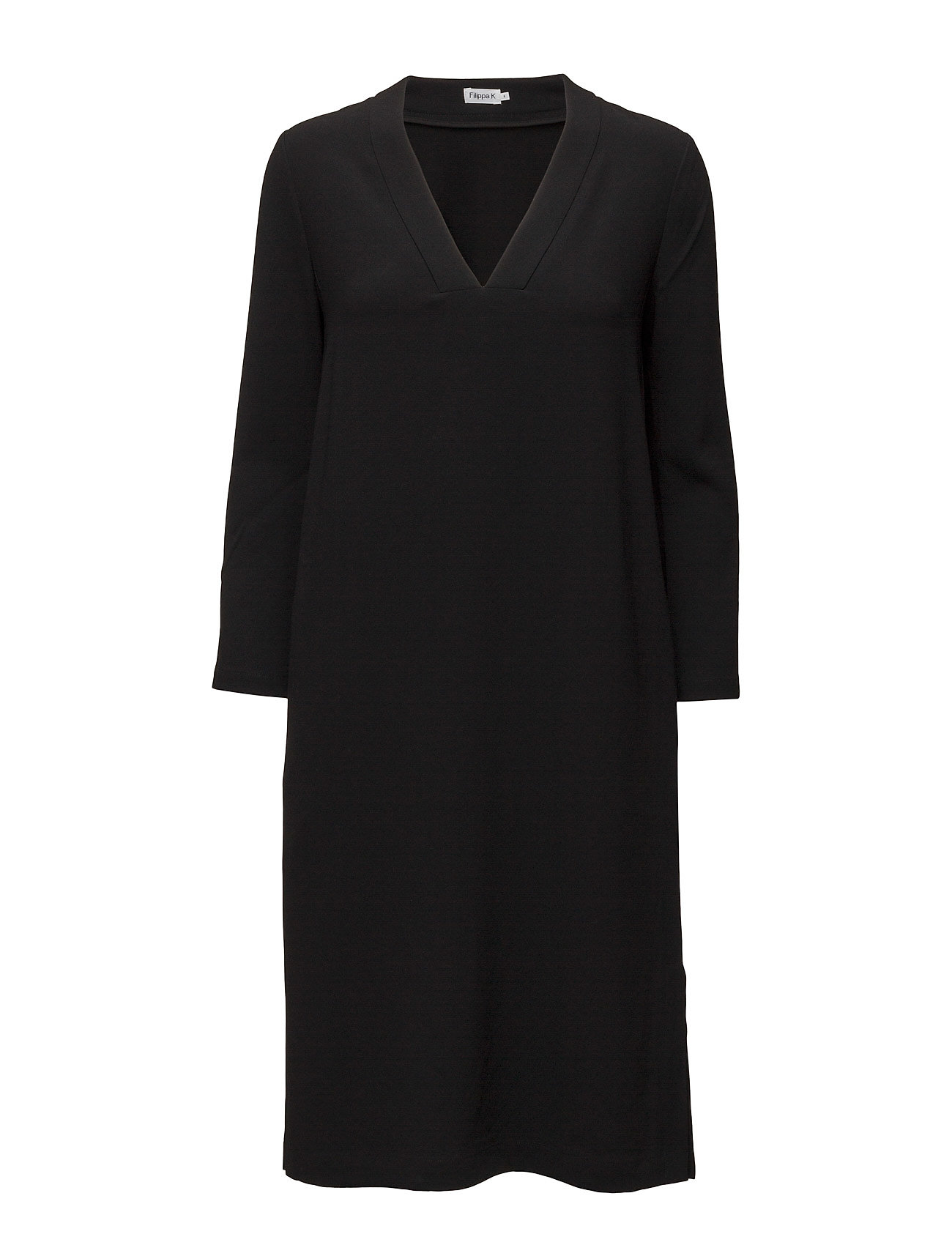 Deep V-Neck Dress Filippa K Knælange & mellemlange til Damer i Sort