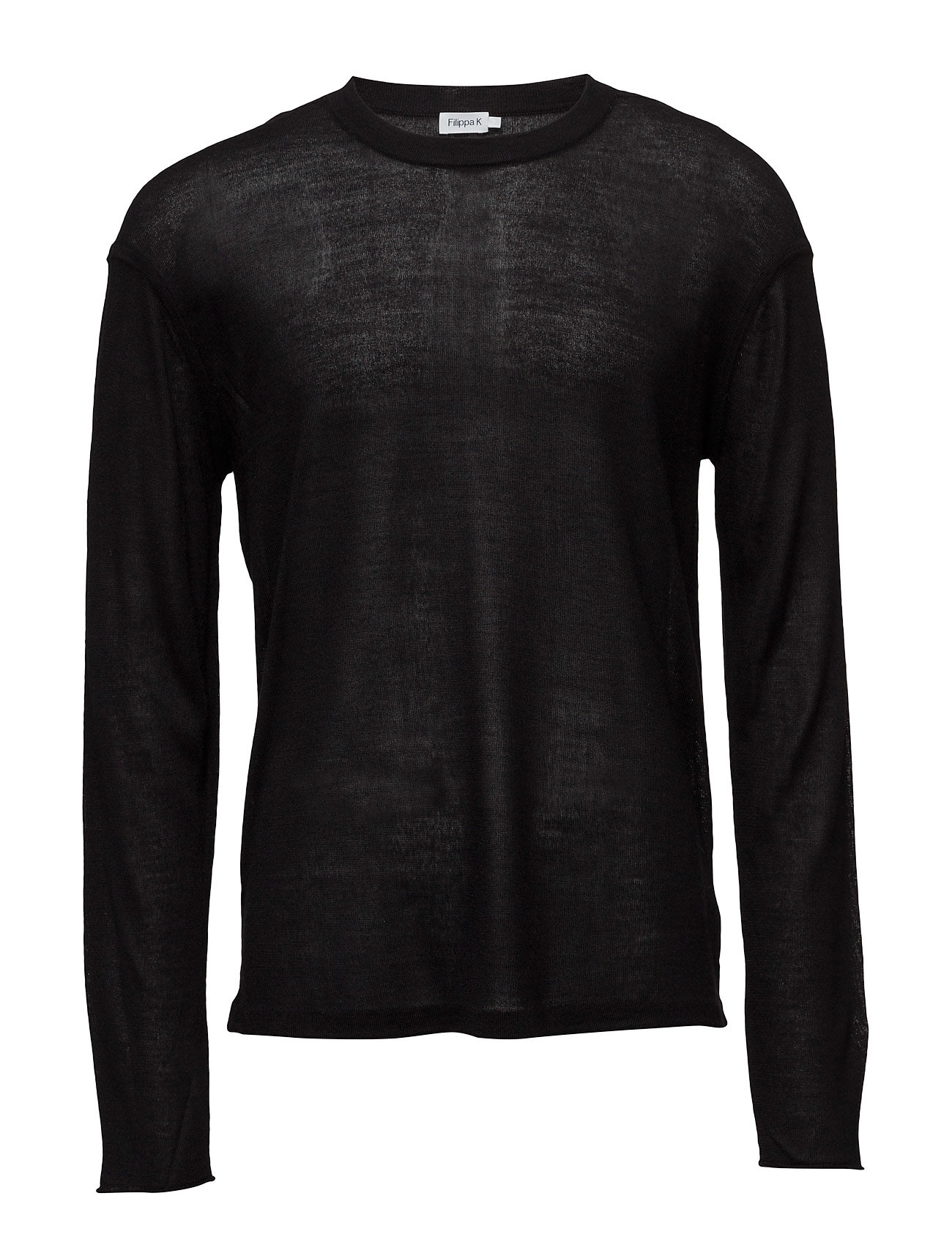 M. Relaxed Light Knit Sweater Filippa K Rundhalsede til Herrer i Sort