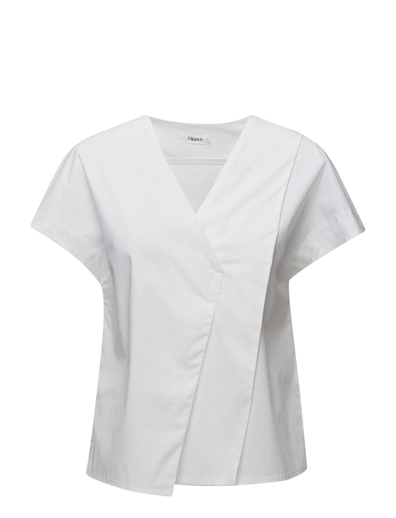 Layered V-Neck Top Filippa K Kortærmede til Damer i hvid