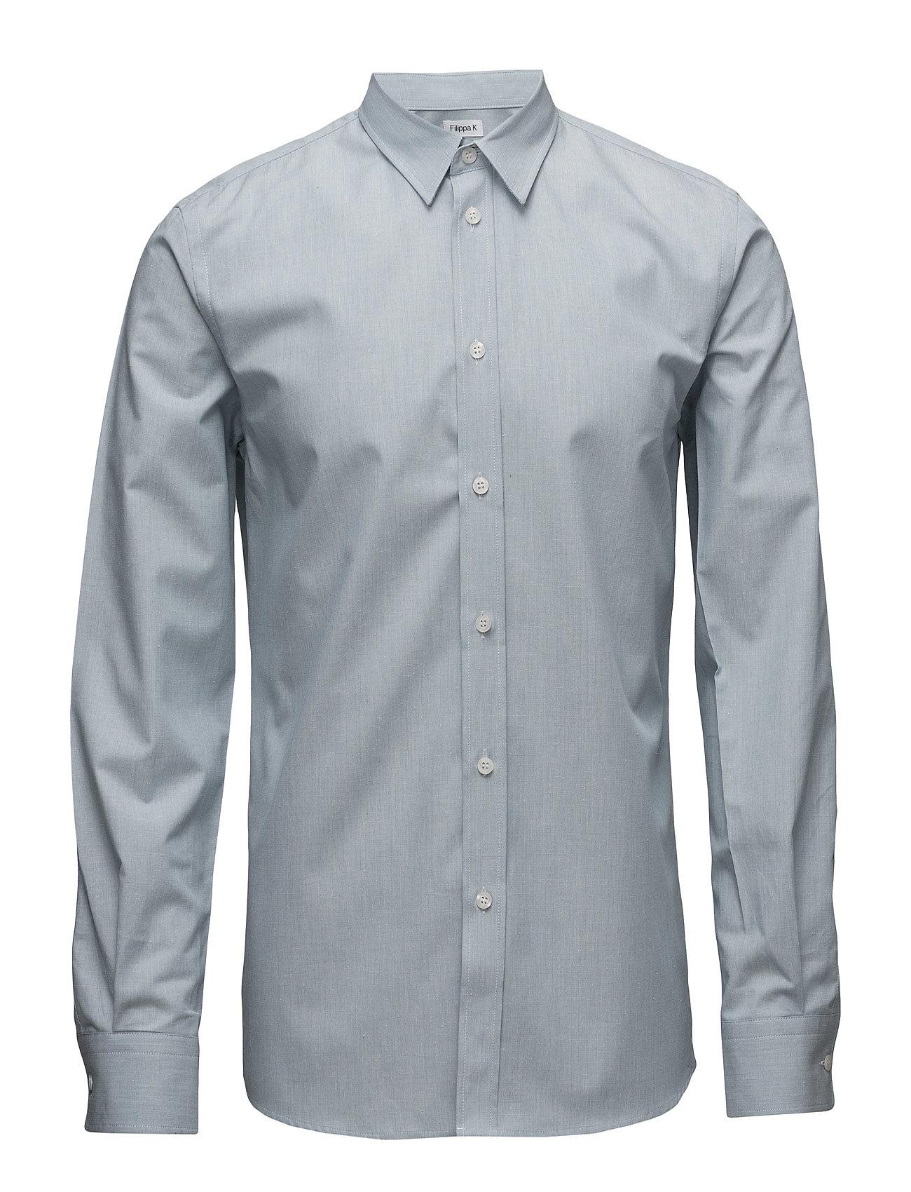M. Peter Silk Nep Shirt Filippa K Business til Herrer i Lyseblå