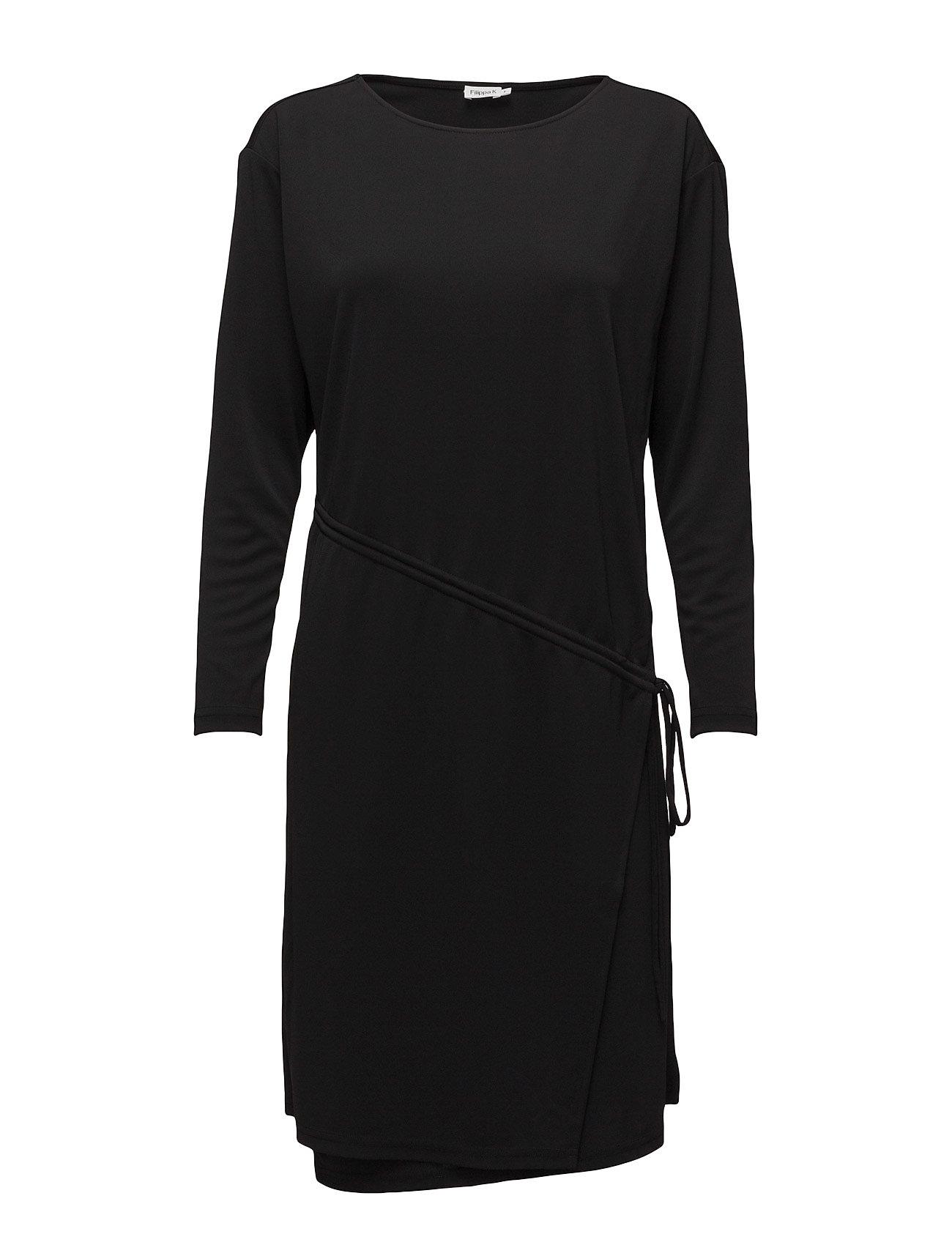Drawstring Wrap Jersey Dress Filippa K Knælange & mellemlange til Damer i Sort
