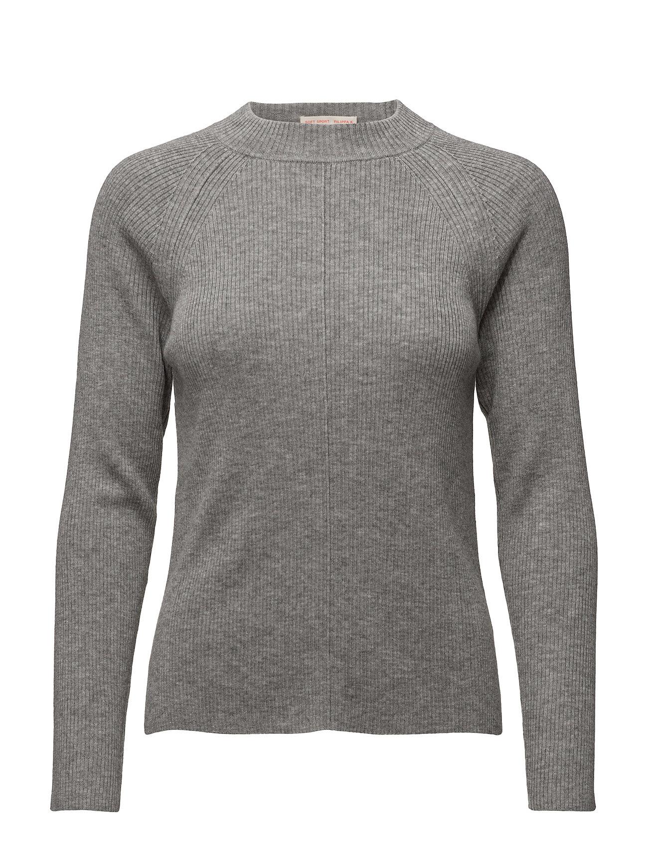 Open Back Rib Sweater Filippa K Sweatshirts til Damer i Grey Mel.