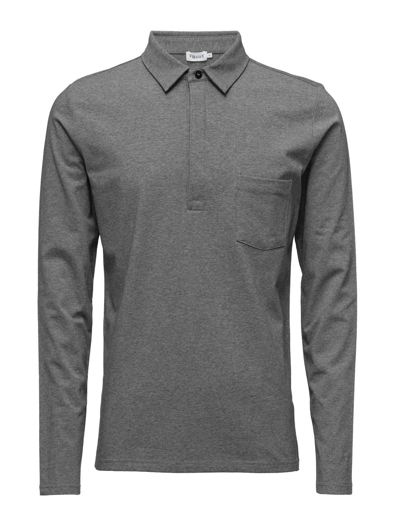 M. Soft Lycra Poloshirt Filippa K Polo t-shirts til Mænd i Grey Mel.