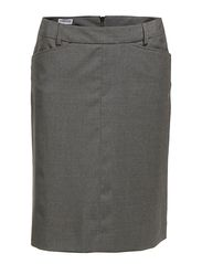 Jenny Cool Wool Skirt - Grey Mel.