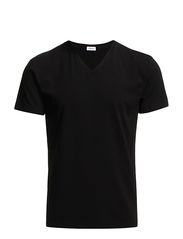 M. Soft Lycra V-Neck Tee - BLACK