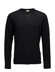 M. Fine Merino R-Neck - BLACK
