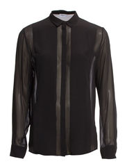 Transparent Silk Blouse - Black