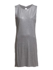 Glossy Shift Dress - Grey Mel.