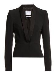 Crepe Tuxedo Jacket - Black
