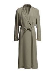 Li Drapey Coat - Light Khaki
