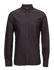 M. Paul Oxford Shirt - SLATE/BLAC