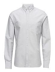 M. Paul Oxford Shirt - WHITE/FOG