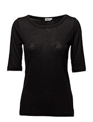 Tencel Midsleeve Top - BLACK