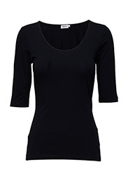 Fine Lycra Scoop Top - NAVY