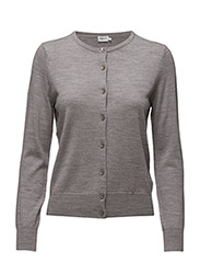 Merino Short Cardi - LIGHT GREY