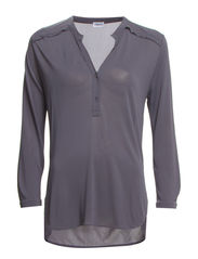 Crepe Blouse Top - Mercury