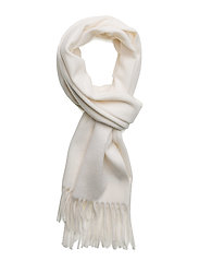 Cashmere Blend Scarf - OFF WHITE