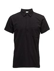 M. Soft Lycra S/S Poloshirt - BLACK