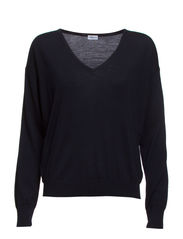 Merino V-neck Pullover - Navy