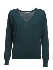 Merino V-neck Pullover - Smokey Gree