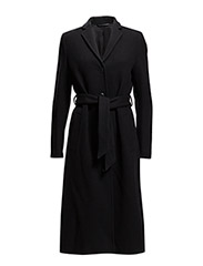 Farah Belt Coat - Black
