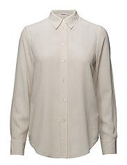 Classic Silk Shirt - PORCELAIN