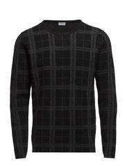 M. Check Wool Sweater - Black/Antr