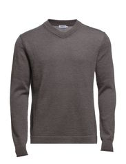 M. Mohair Cotton V-Neck - Inox