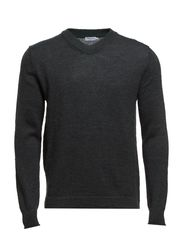 M. Mohair Cotton V-Neck - Spruce