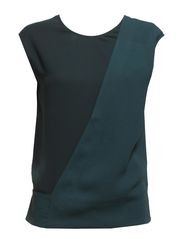 Wrap Layer Blouse - Smoky Gree