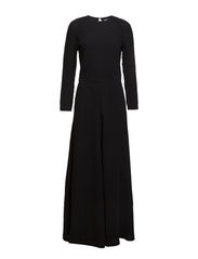 Back Split Maxi Dress - Black