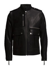 M. Copper Leather Jacket - Black