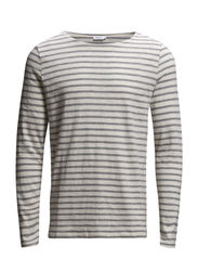 M. Cotton Slub Stripe - Ivory/Grey